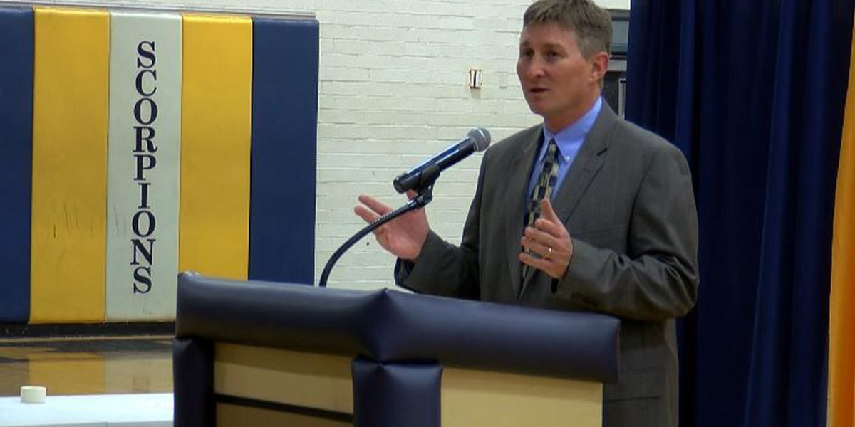 Bryan Davis introduced as football coach at North Brunswick High School