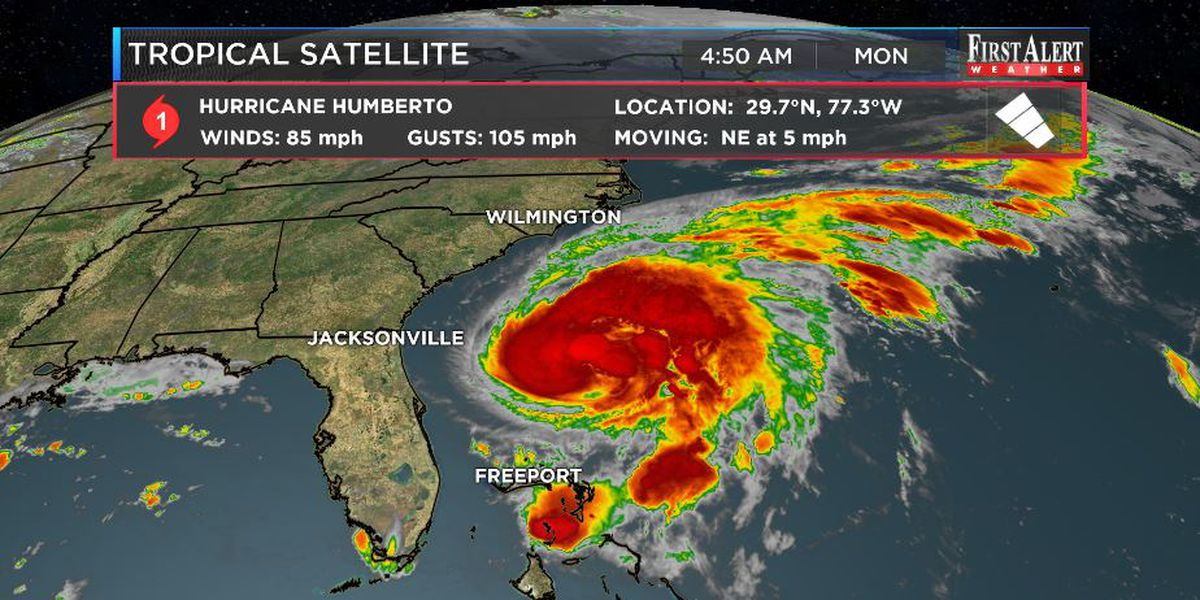 First Alert Forecast: Humberto to help deliver a cooler change