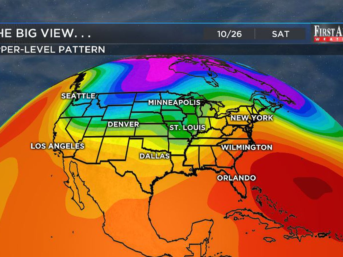 First Alert Forecast: warm and wet pattern likely to close October