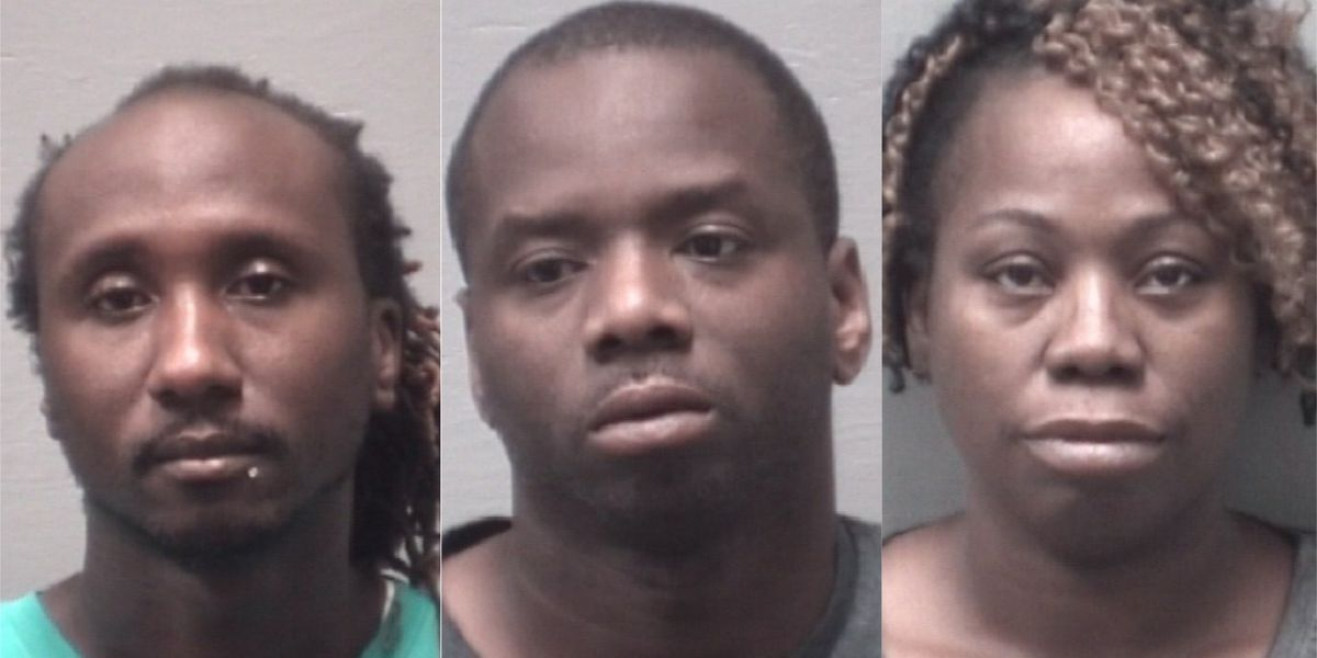 Trio arrested on cocaine trafficking charges, deputies say