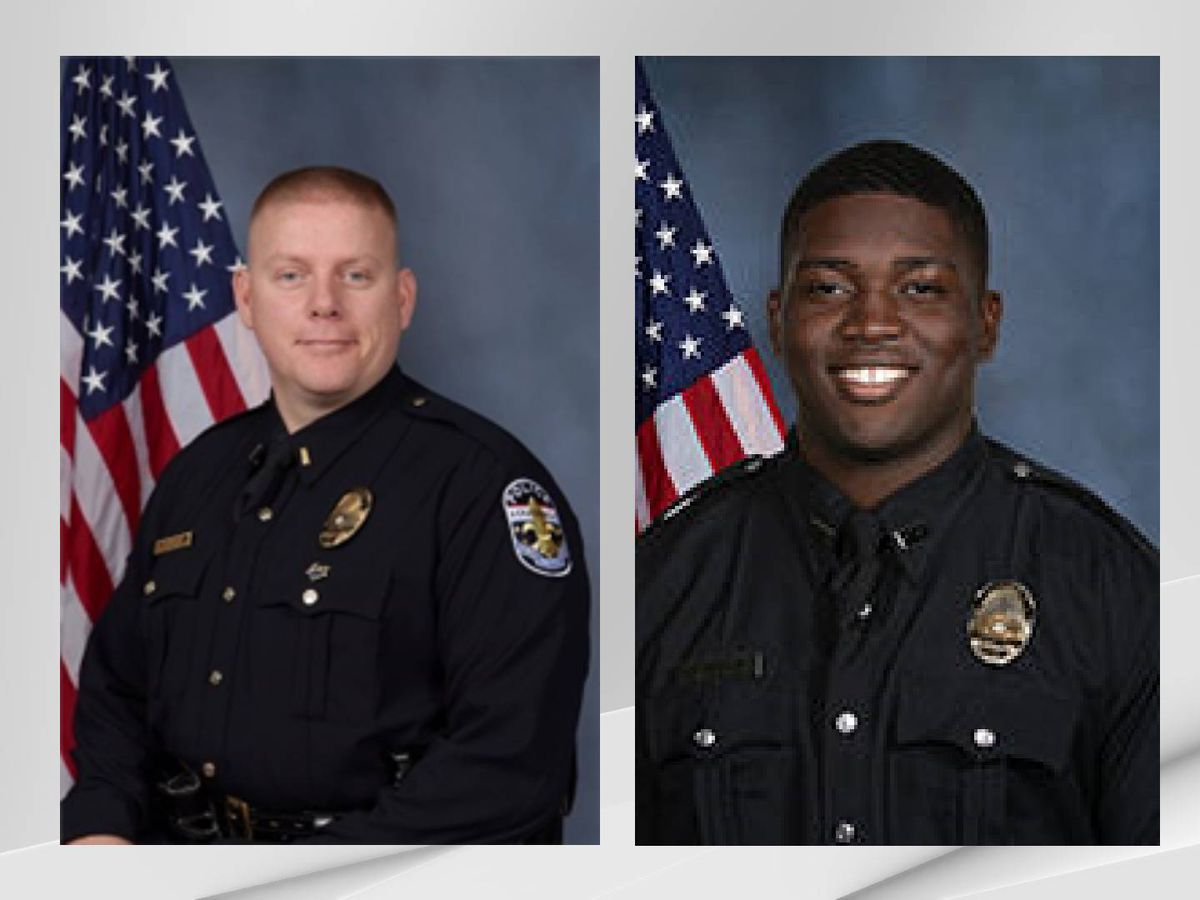 Officers shot in downtown Louisville identified