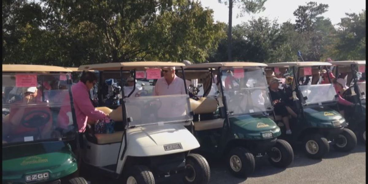 Hundreds turn out for annual 'Play for Pink' golf tournament