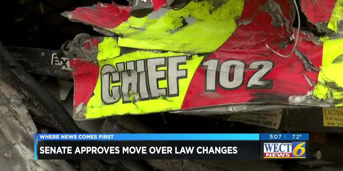 "N Carolina Senate gives unanimous OK to ""move-over"" changes"