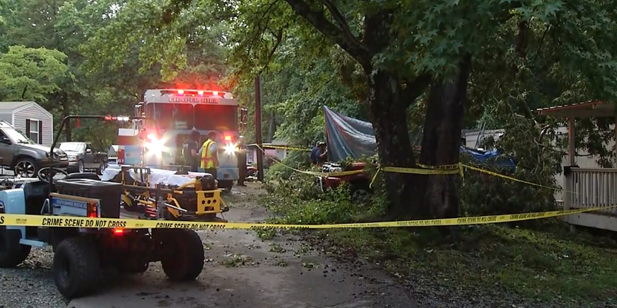 Man dies when tree falls on Chapel Hill home as storms hit region