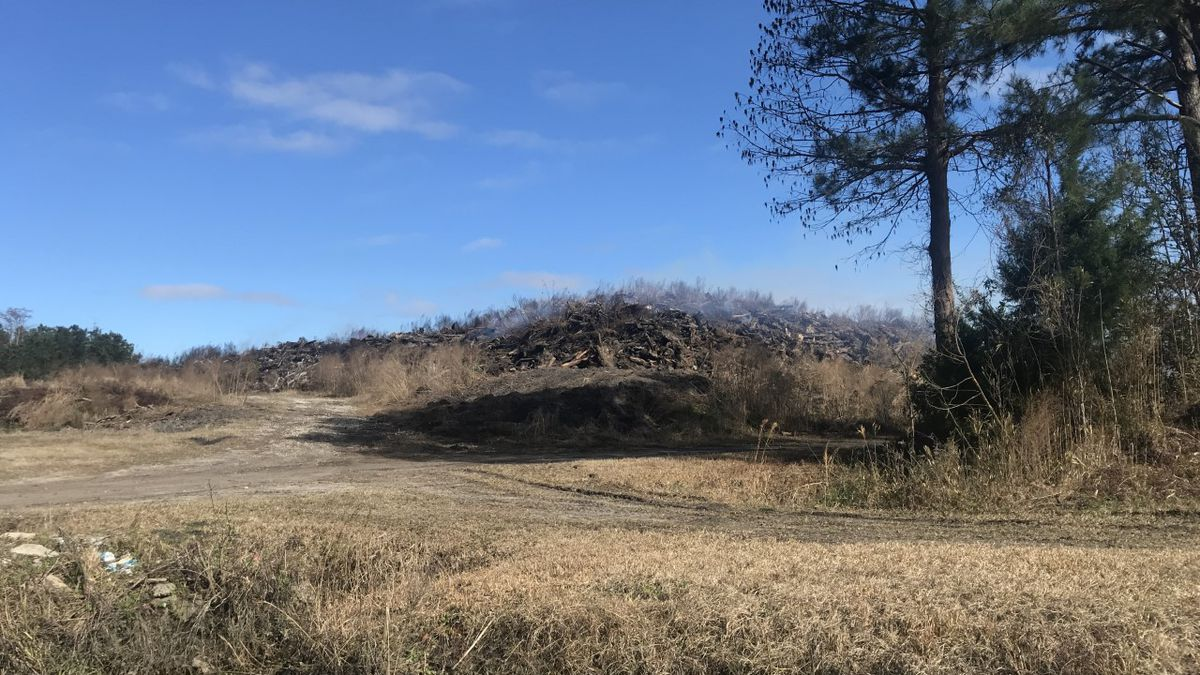 Pender Co. debris fire likely to burn for months