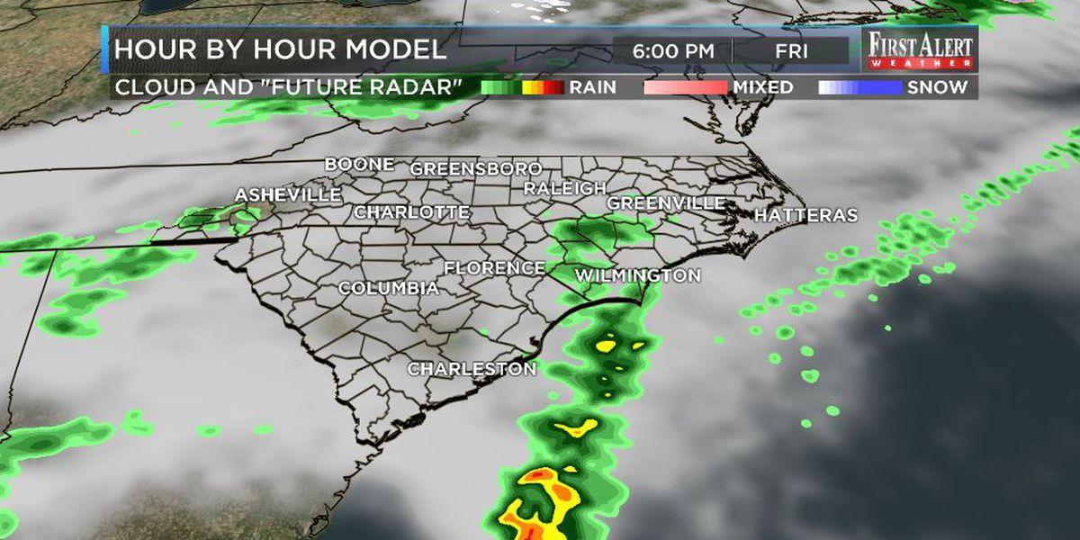 First Alert Forecast: rain chances return to Cape Fear Region