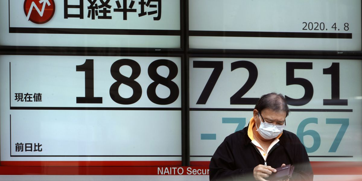 Global shares mostly lower amid worries on pandemic toll