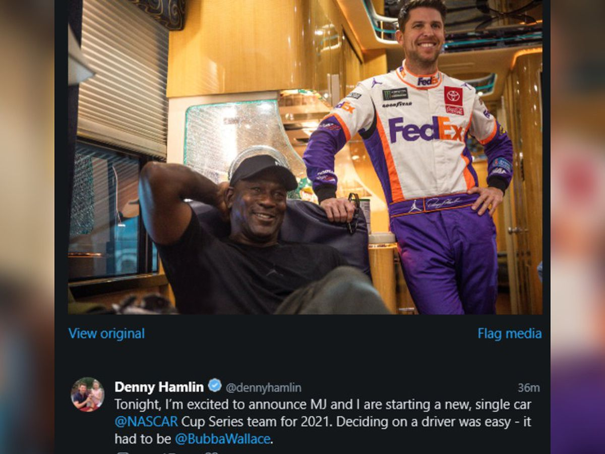 Michael Jordan and Denny Hamlin form new NASCAR team, sign Bubba Wallace