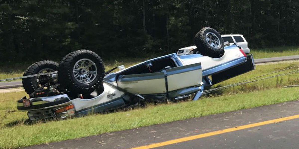 Bike falls off rack, causes multi-vehicle crash on I-40