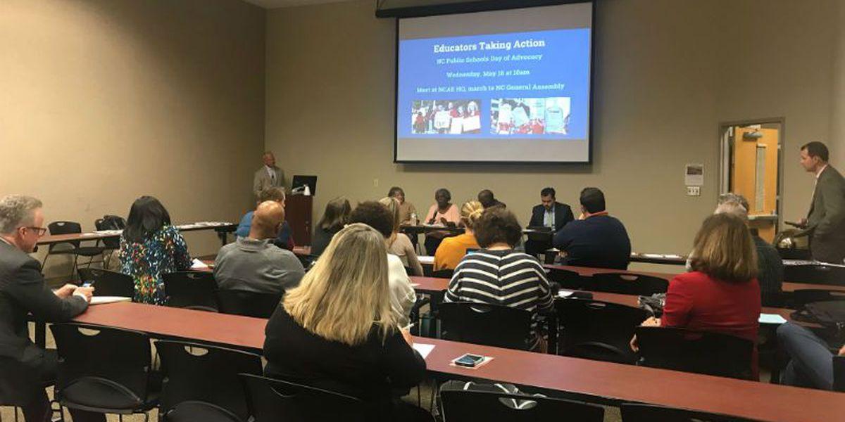 NHC educators meet in Wilmington to discuss teacher pay