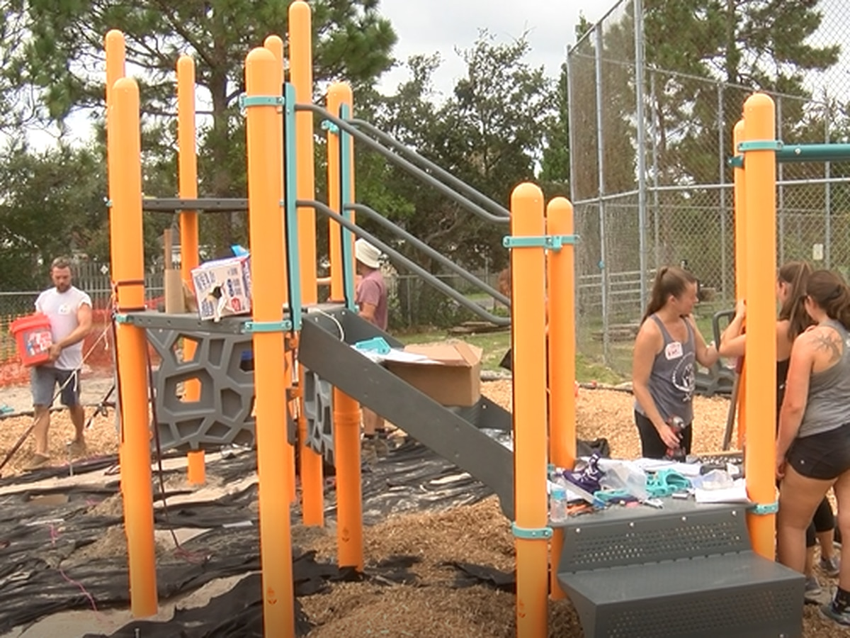Wilmington YMCA assembles playground created by kids