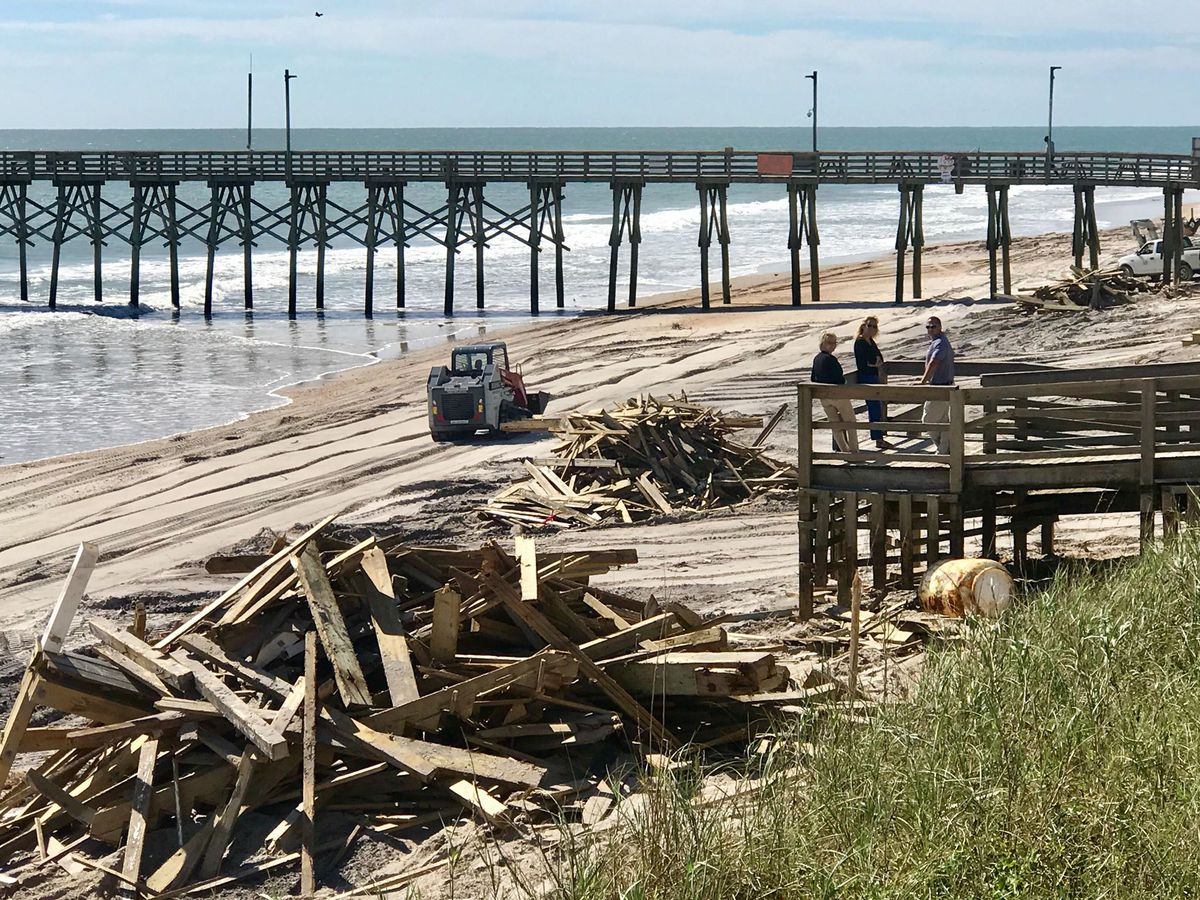 Beach reopens in Surf City; just one access available