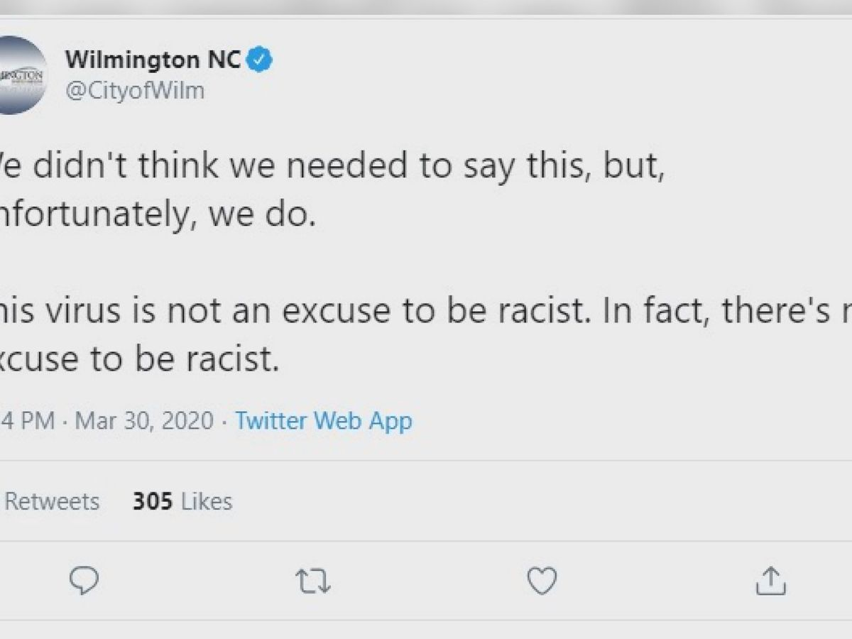 'We are all in this together': Wilmington mayor denounces accounts of racism, urges unity in facing COVID-19