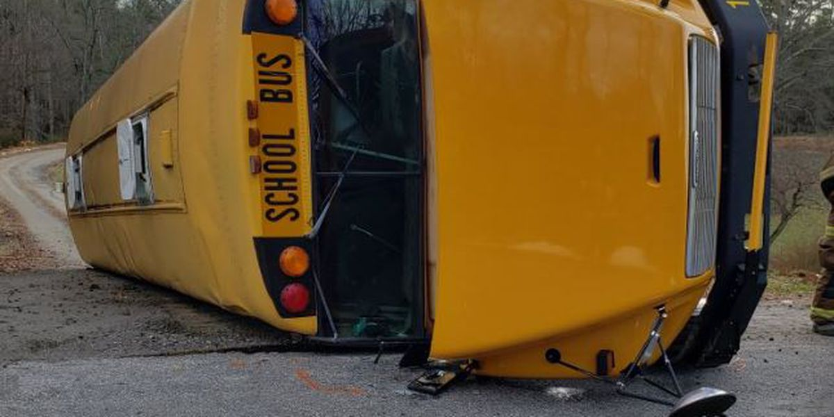 Driver charged with DWI after crash involving overturned school bus injures 15