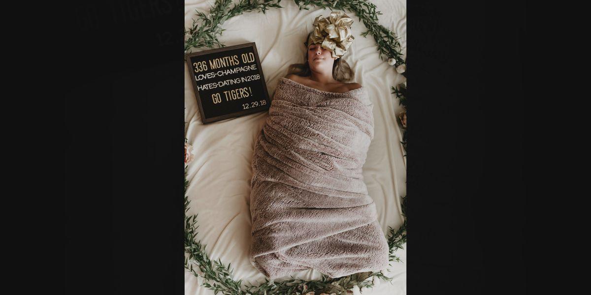 Lifelong SC friends celebrate birthday with hilarious newborn parody photoshoot