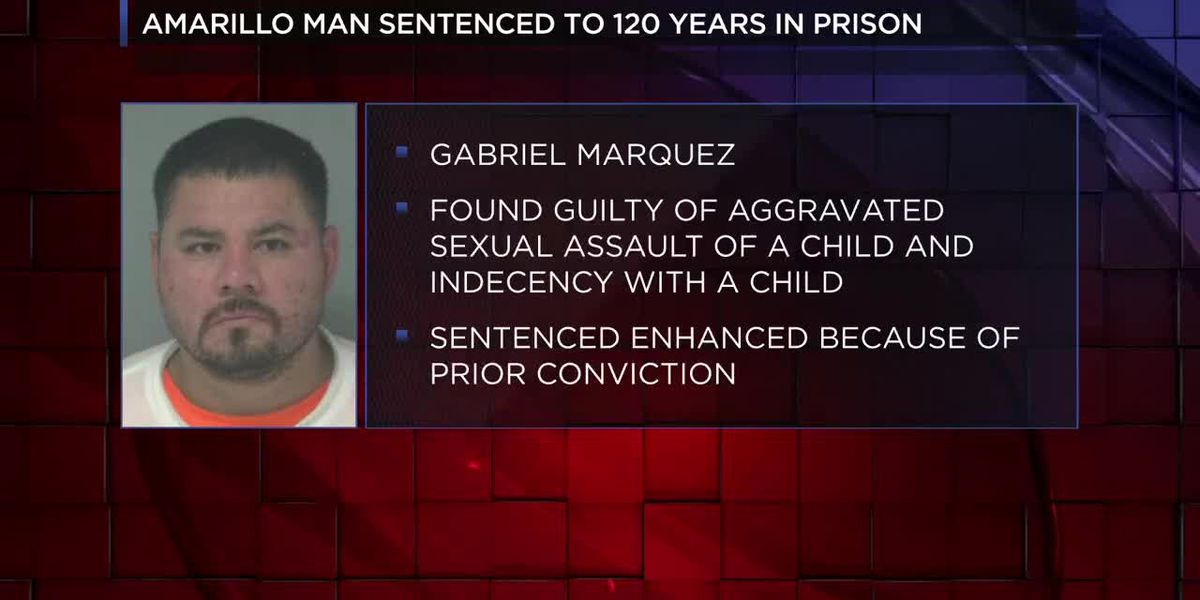 Judge sentences man to 120 years in prison for aggravated sexual assault of a child