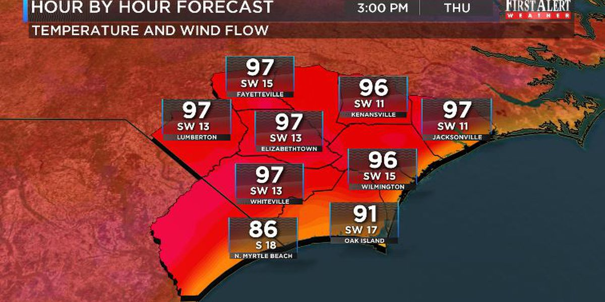 First Alert Forecast: sweltering heat through Friday, welcomed changes by the weekend