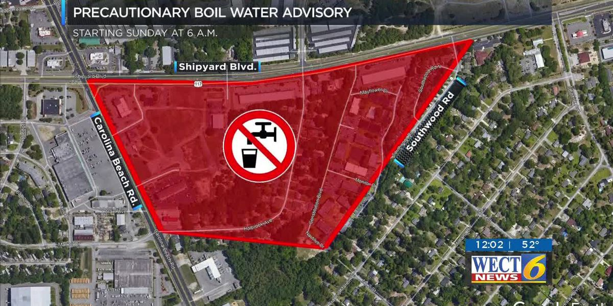 CFPUA plans work along Shipyard Boulevard, boil water advisory to follow