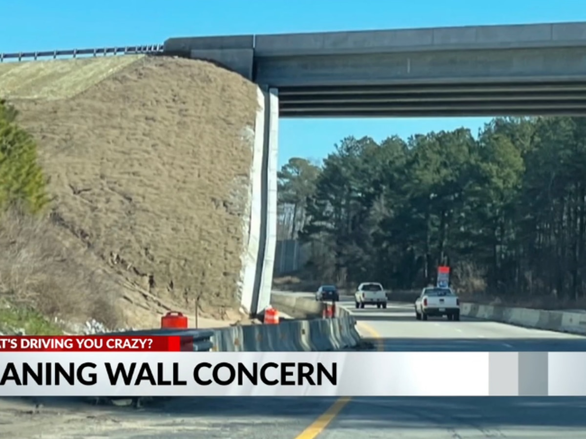 NCDOT: Raleigh bridge wall that appears to be leaning is just an 'illusion'