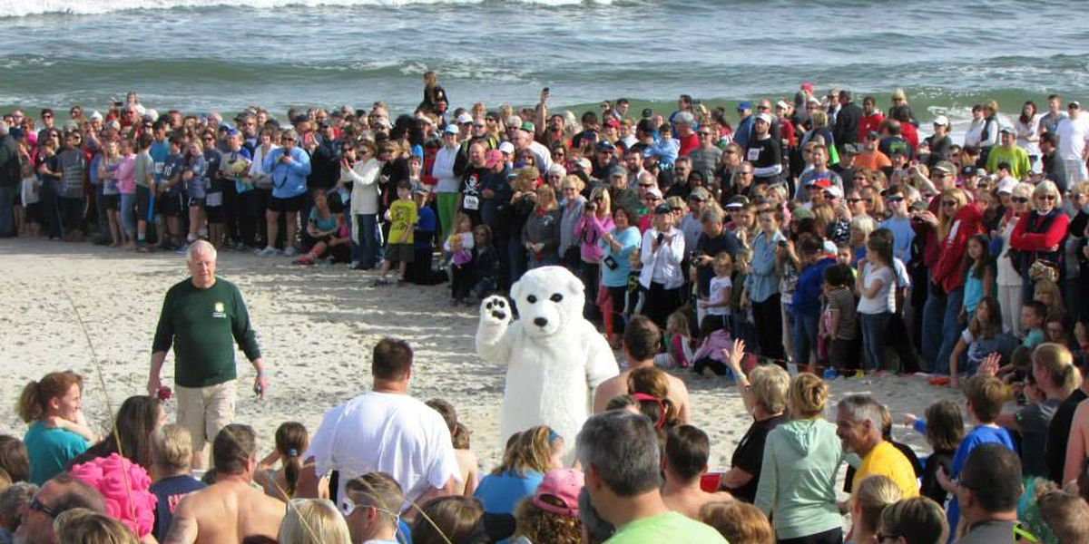 Not literally freezing, but certainly chilly for Saturday's Kure Beach polar plunge