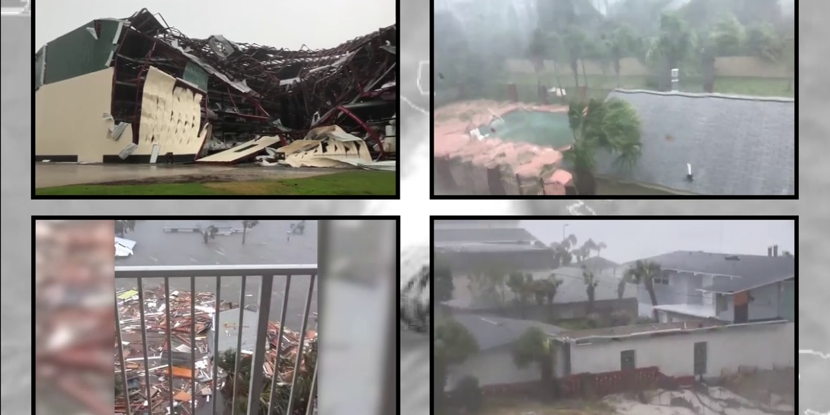 Devastating footage pours in from ravaged Florida Panhandle