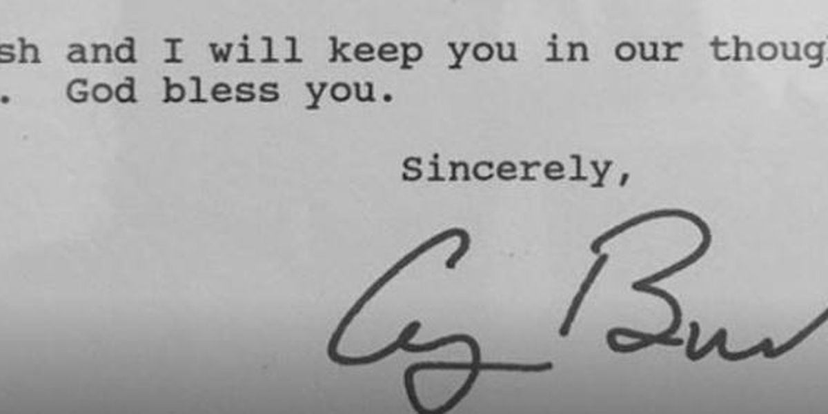 Man shares letter from President George H.W. Bush