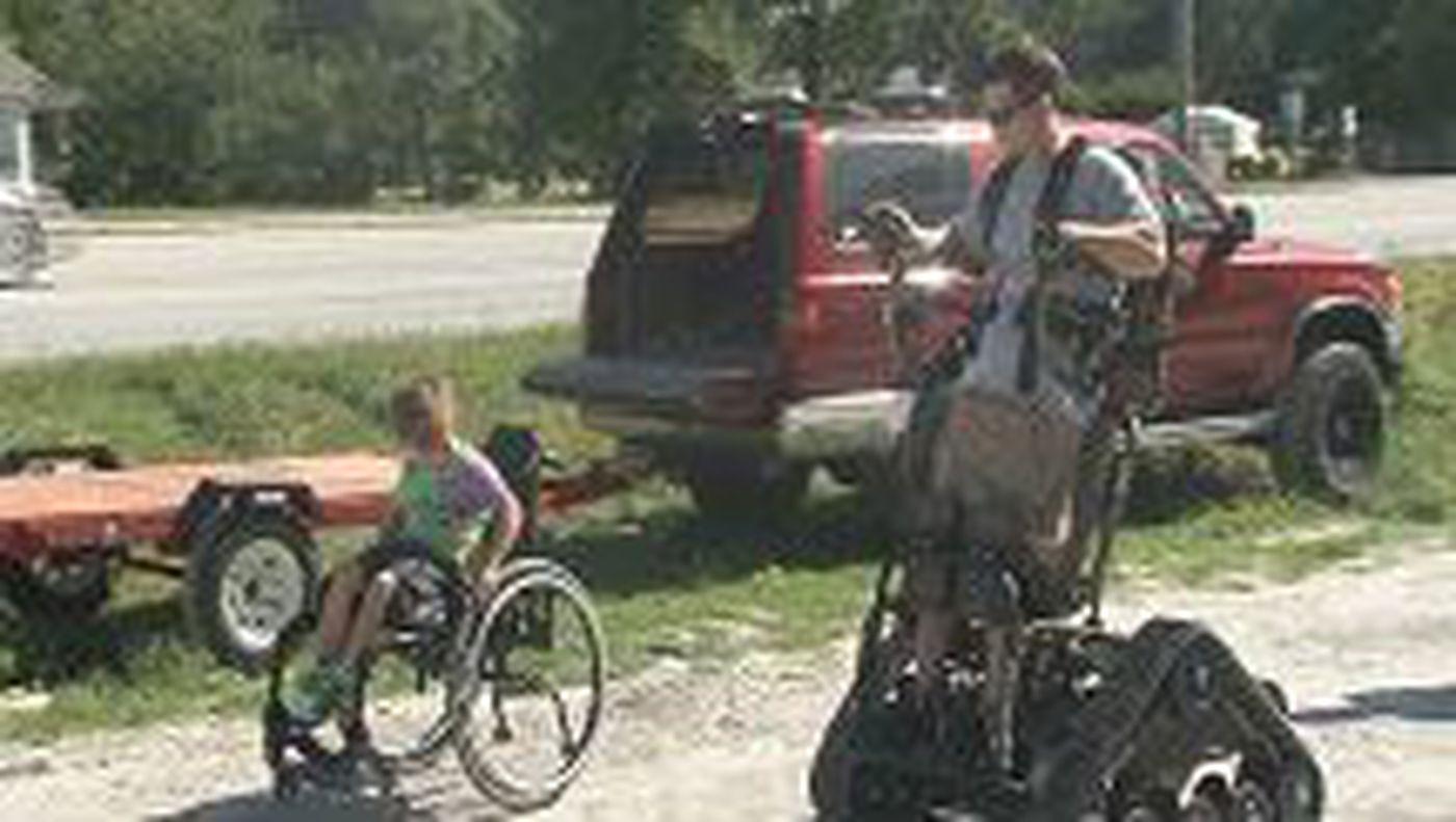 Pleasant Action Track Chair Takes Paraplegic To New Heights Download Free Architecture Designs Scobabritishbridgeorg