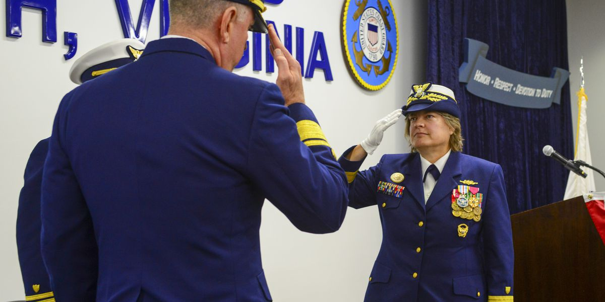 Wilmington native Rear Adm. Laura Dickey returns to familiar waters with assignment as Coast Guard 5th District commander