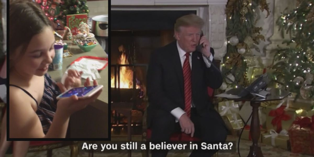 SC girl who spoke to President Trump about Santa says 'it was an honor'