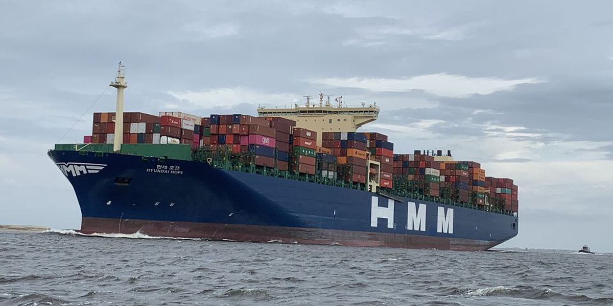 Record-breaking ship arrives at Port of Wilmington