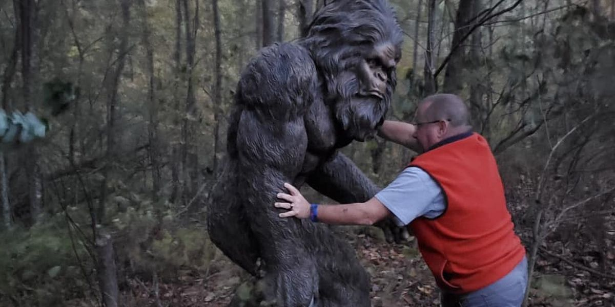 FOUND! Massive Bigfoot statue stolen from NC business located in woods
