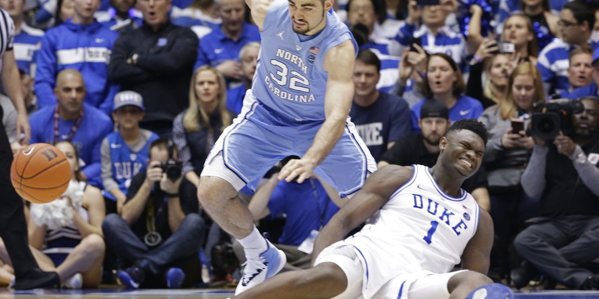 With Zion injured, No. 8 UNC routs No. 1 Duke