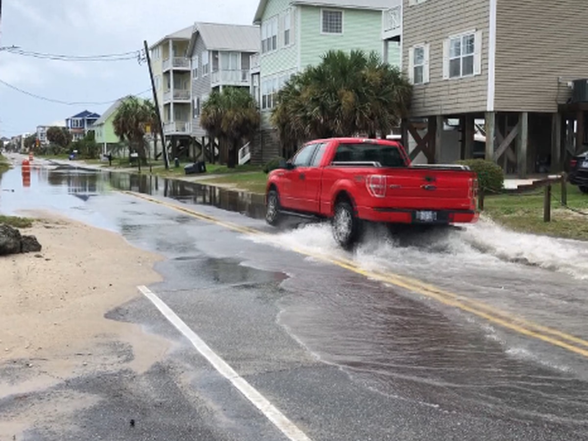 Council members approve ordinance to fine people who drive on often flooded road in Carolina Beach