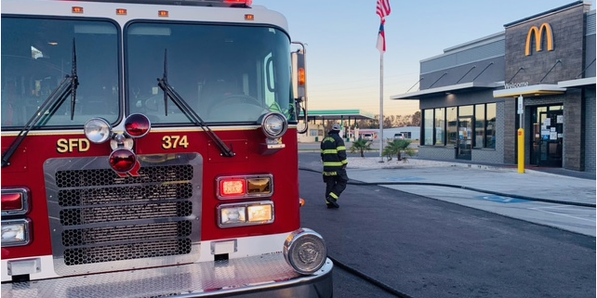 Crews respond to report of fire at McDonald's in Southport