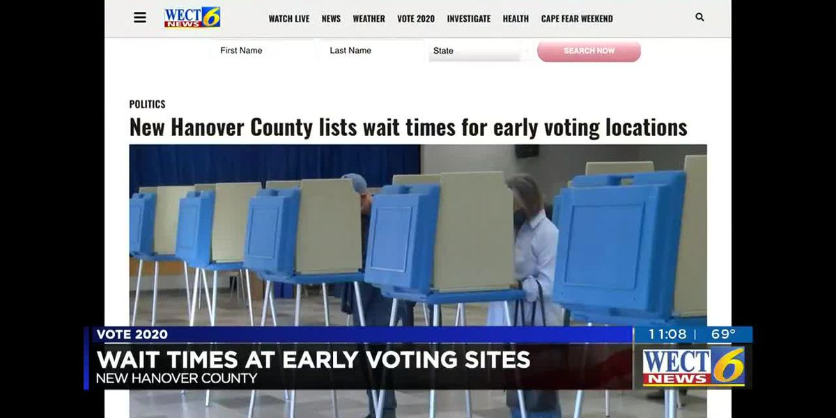 Board of Elections website shows wait times for early voting
