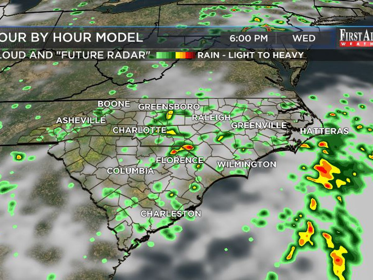 First Alert Forecast: tropical disturbance continues its rainy fuss