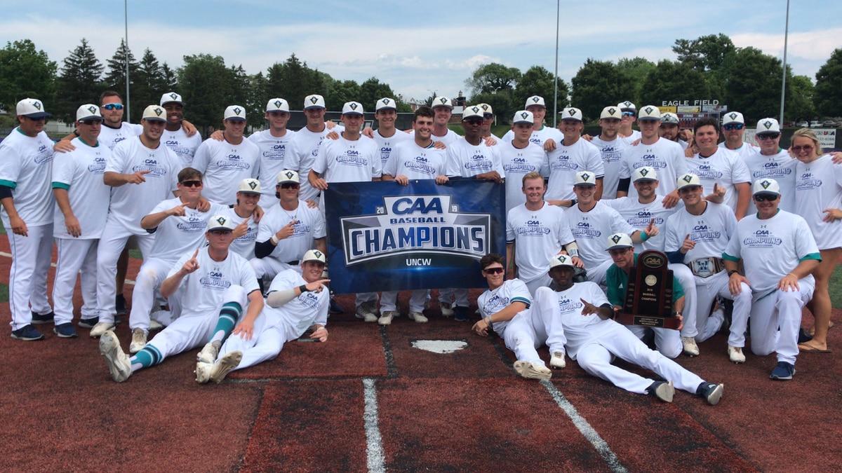 UNCW baseball captures 6th CAA Baseball Championship with dramatic 6-5 win over Elon
