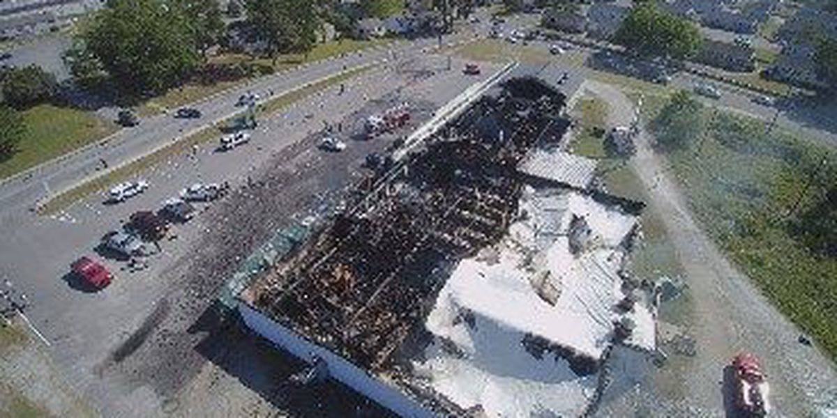 SKY TRACKER: Greenfield Street supermarket fire
