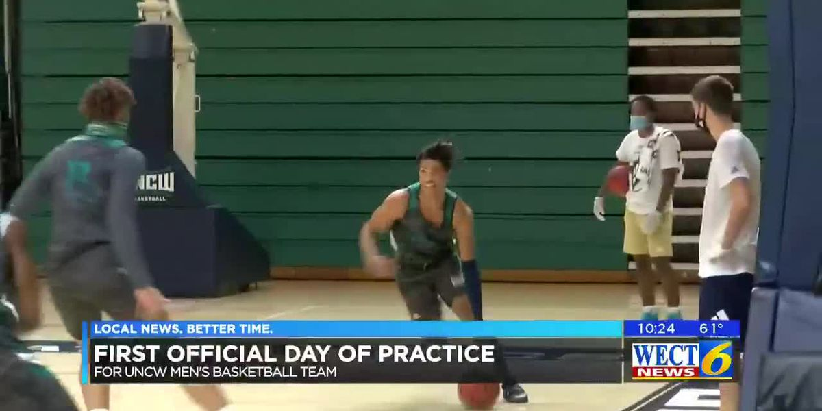 UNCW basketball team holds its first official day of practice
