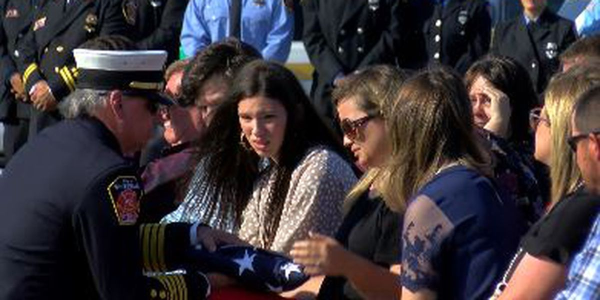 Hundreds pay final respects to fire fighter Michael Stanley
