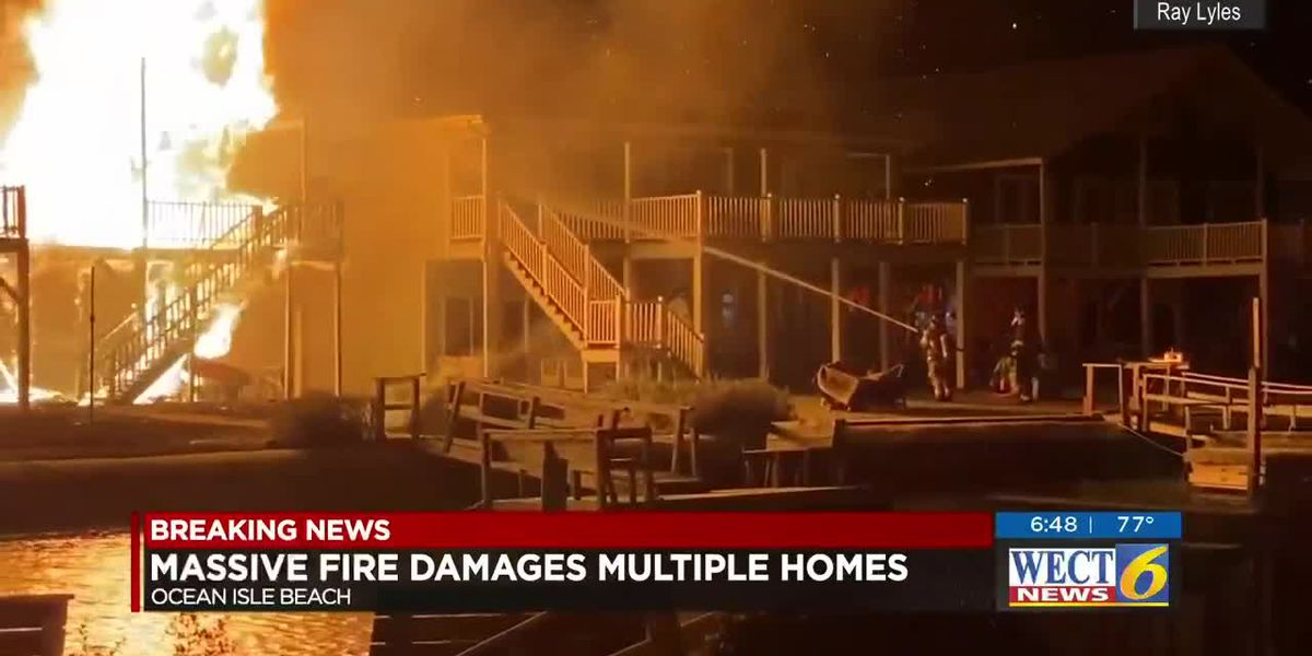 Crews respond to massive overnight fire in Ocean Isle Beach