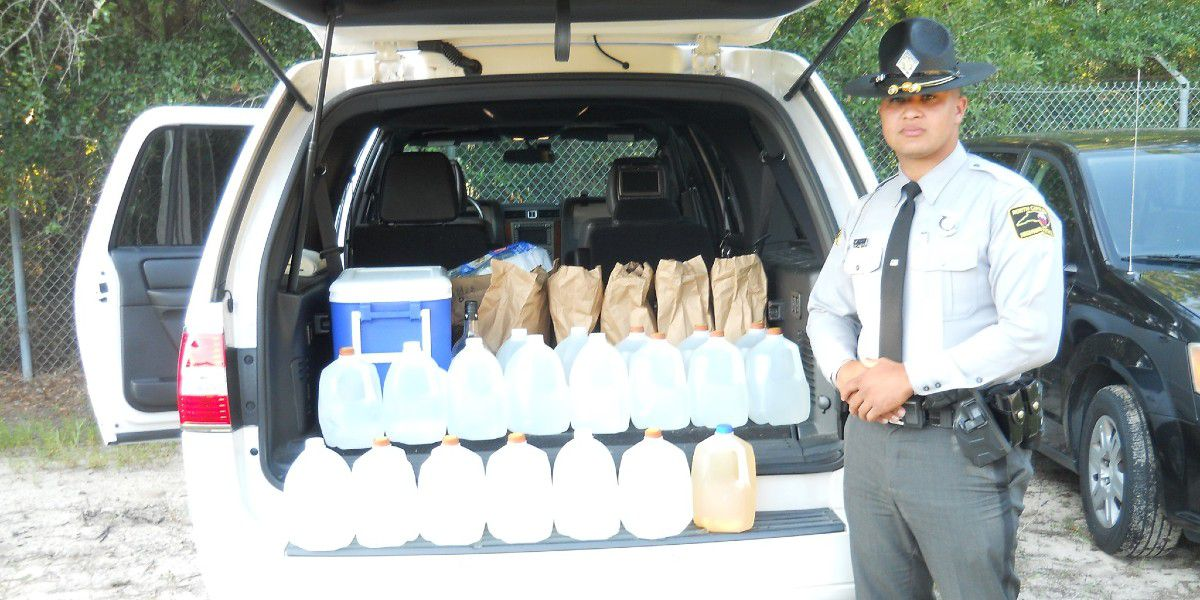 N.C. trooper finds 20 gallons of suspected moonshine during traffic stop
