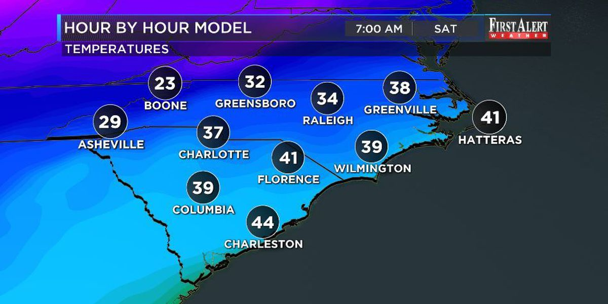 First Alert Forecast: temperatures take a big dive this weekend