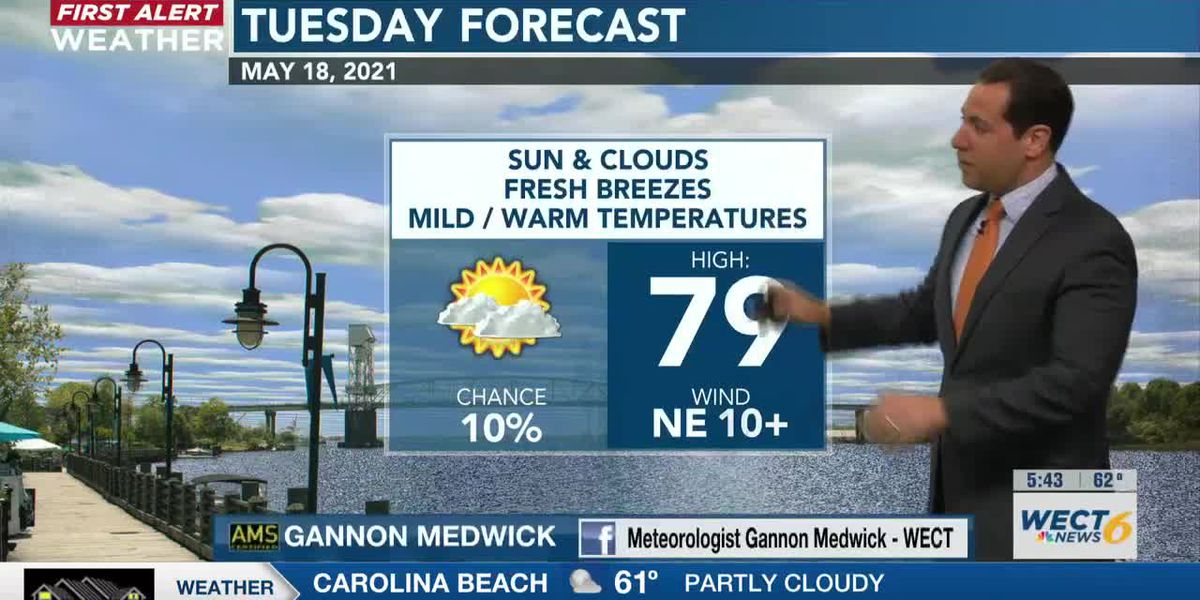 Your First Alert Forecast from early Tue., May 18, 2021