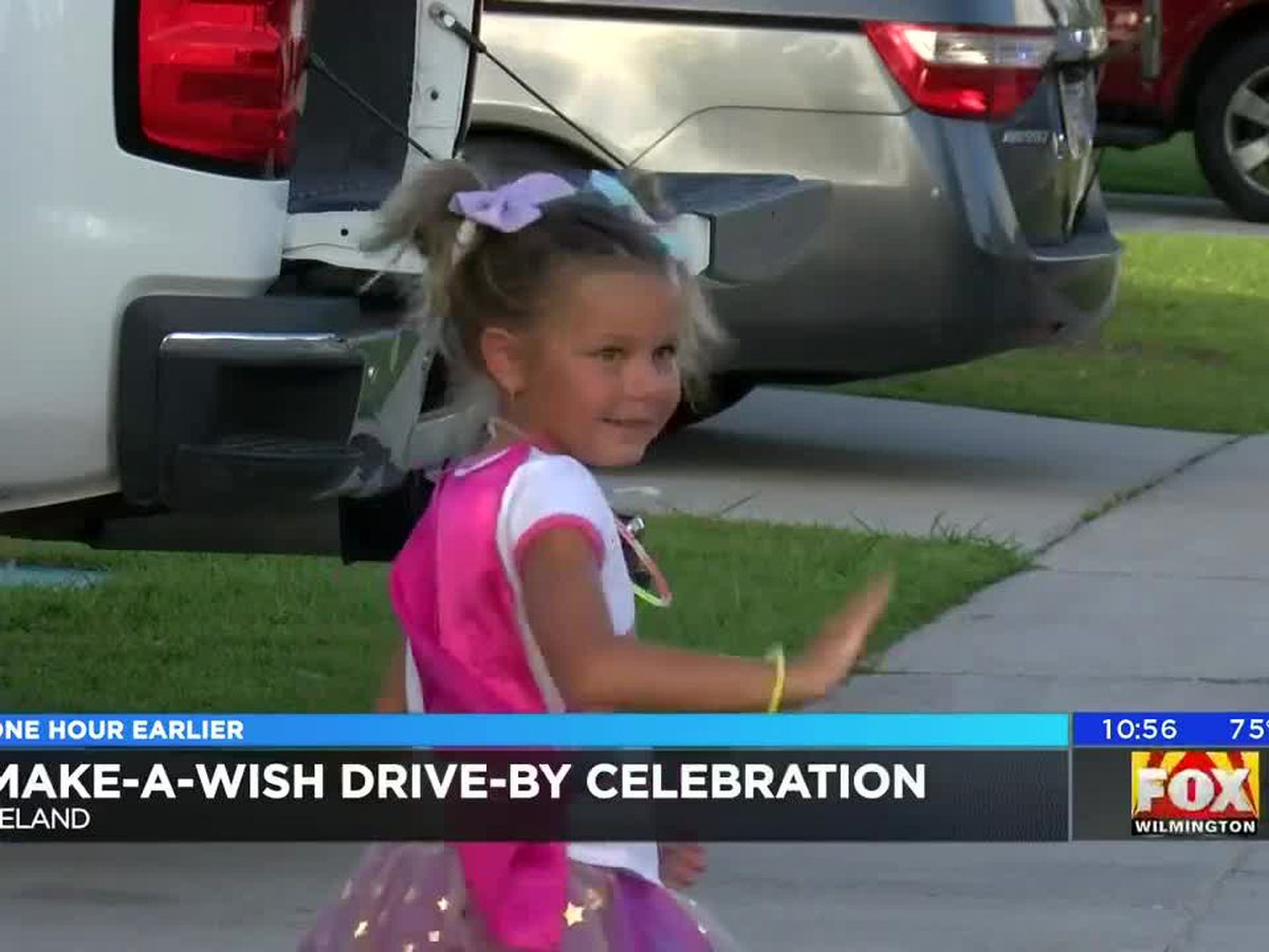 4-year-old battling rare cancer is treated to drive-by parade