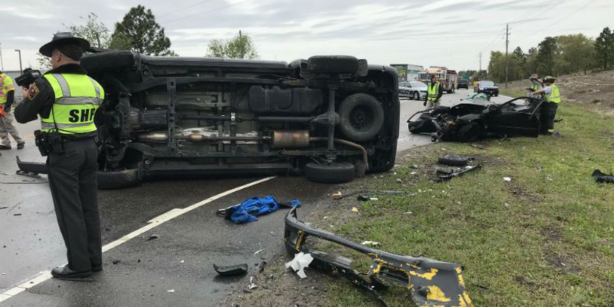 2 taken to hospital after head-on crash in New Hanover County