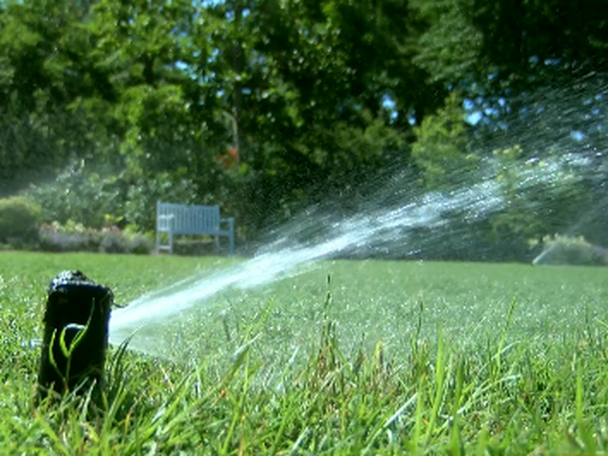 Keeping green grass through the drought, without over-watering