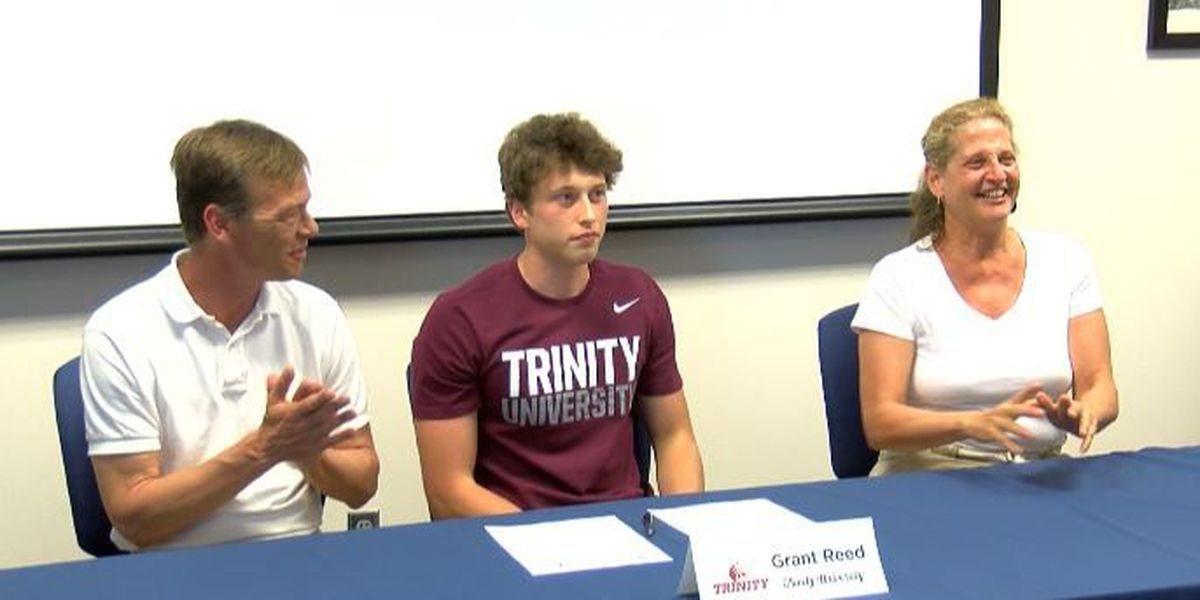CFA's Grant Reed signs with Trinity University