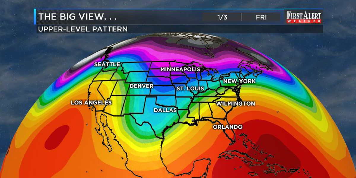 First Alert Forecast: big ups and downs in temps to open 2020