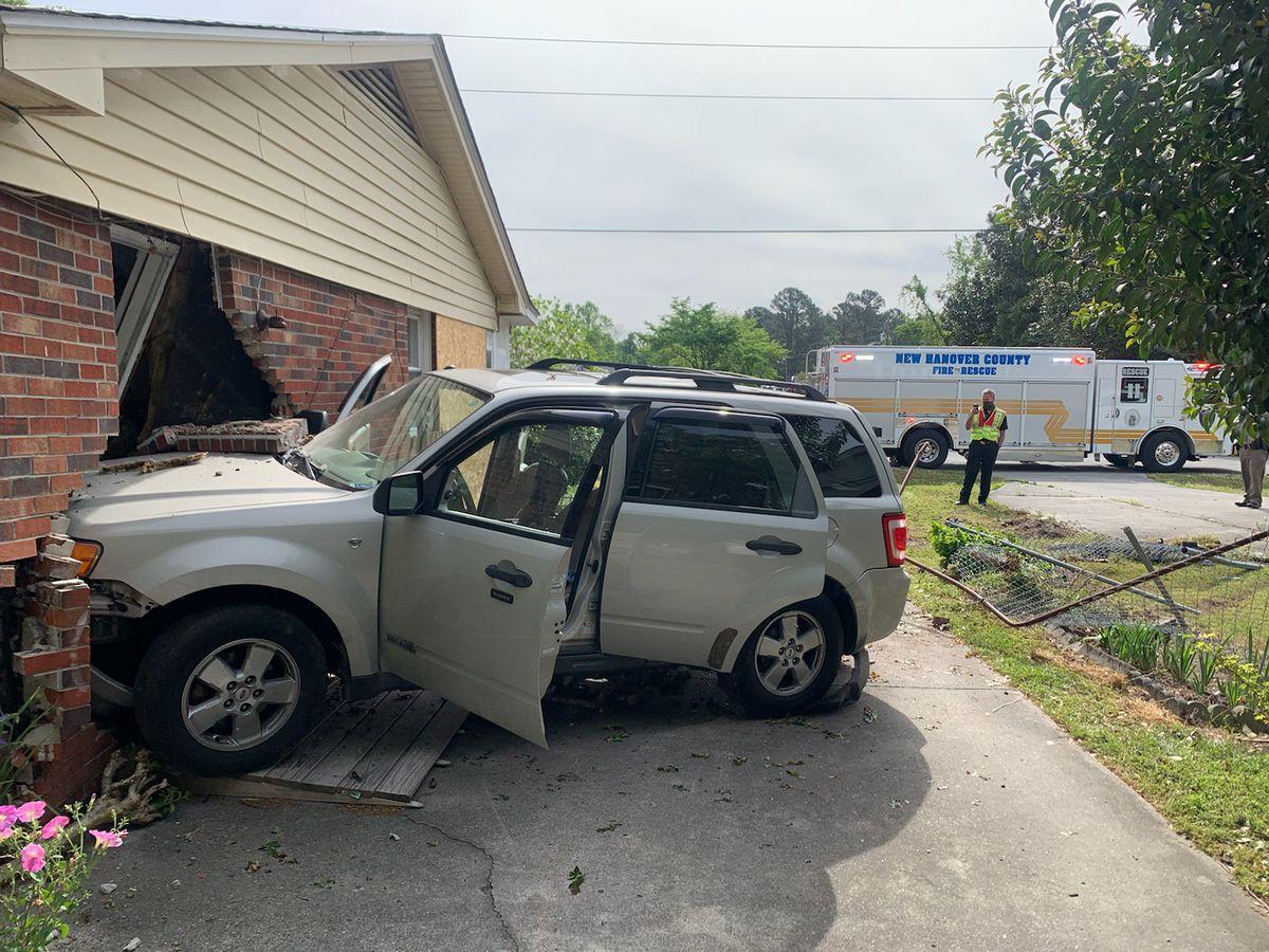 SUV crashes into Castle Hayne house